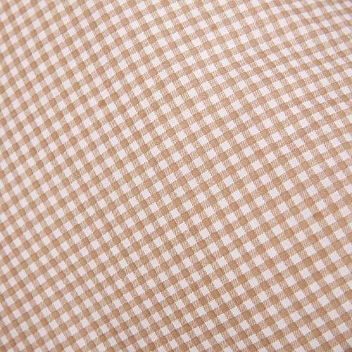 Hans-Textil-Shop Stoff Meterware Karo 3x3 mm Beige Baumwolle Karomuster Gedruckt Kariert - 1 Meter