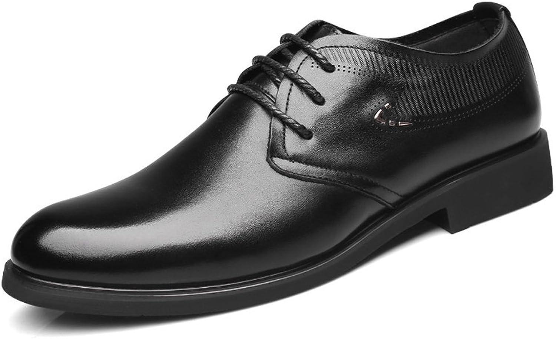 L.Z.H Klassische Herren Herren Business-Halbschuhe aus echtem Leder mit Schnürung, weiche Sohle und atmungsaktiv (Farbe   Schwarz, Größe   6.5 UK)  ganz billig