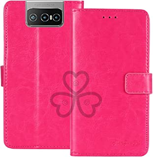 TienJueShi Rosa Book Stand Retro Flip Leather Protector Phone TPU Silicone Case For Asus Zenfone 7 Pro ZS671KS 6.67 inch G...