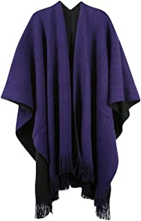 Womens Winter Knitted Cashmere Poncho Capes Shawl Cardigans Pashmina Shawls