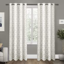 Exclusive Home Curtains Cartago Insulated Woven Blackout Window Curtain Panel Pair with Grommet Top, 54x84, Vanilla, 2 Piece