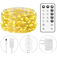 Minger 33Ft String Light 100 LEDs Waterproof Flexible Fairy Light with Remote Control for Home Patio Party Wedding Festivals