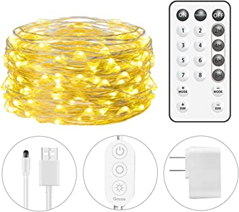 Minger 33Ft String Light 100 LEDs Waterproof Flexible Fairy Light
