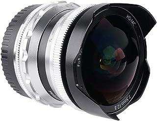 PERGEAR 7.5mm F2.8 カメラ交換レンズ 超広角 魚眼レンズ 手動式 焦点固定レンズ Fuji X-T1 X-T2 X-T3 X-T4 X-T20 X-T30 X-Pro2 X-Pro3 X-E1 X-E2 E-E2s X-E3 ...