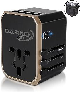 Universal Adapter, Multi Adapter Worldwide, International Power Adapter 4 USB Fast Charging Type-C Port, Plug Adapter with...