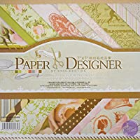 Asian Hobby Crafts Paper Designer by EnoGreeting : 7? x7? : (DSM0015) : 36 Patterned Papers : Theme - Romantic