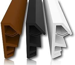 Vensterafdichting, bruin, 5m - 4mm groefbreedte / 12mm vouw van TPE hoogwaardige rubberen afdichting, houten raamafdichtin...