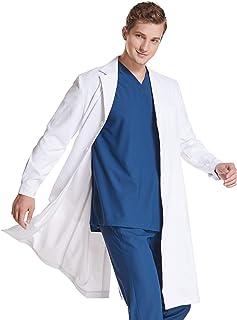 Lantu care 白衣 男性用 ノンアイロン 柔らかい生地 実験用 長袖 メンズ(XL)
