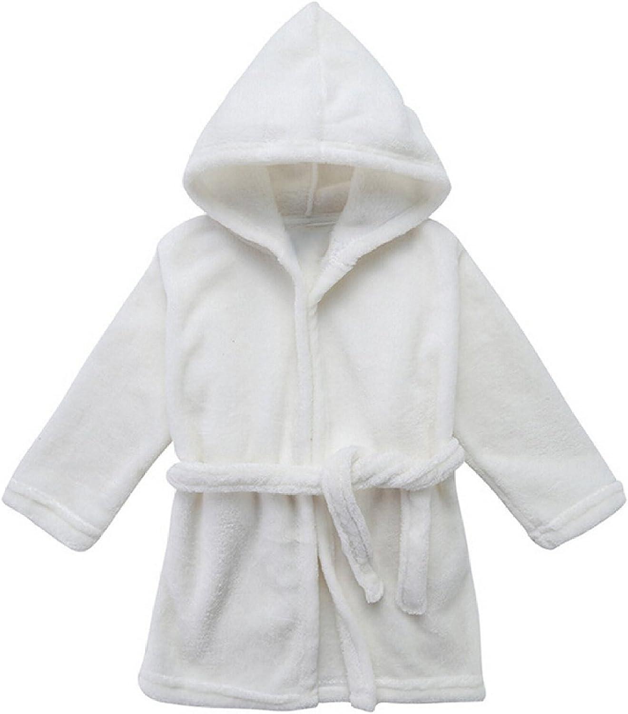 Toddler Unisex Baby Robe Hooded Fleece Bathrobe and Towel for Kids 9-36 Month