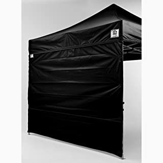 Impact Canopy 10-Foot Canopy Tent Wall Set, 1 Solid Sidewall and 1 Middle Zipper Sidewall Only, Black
