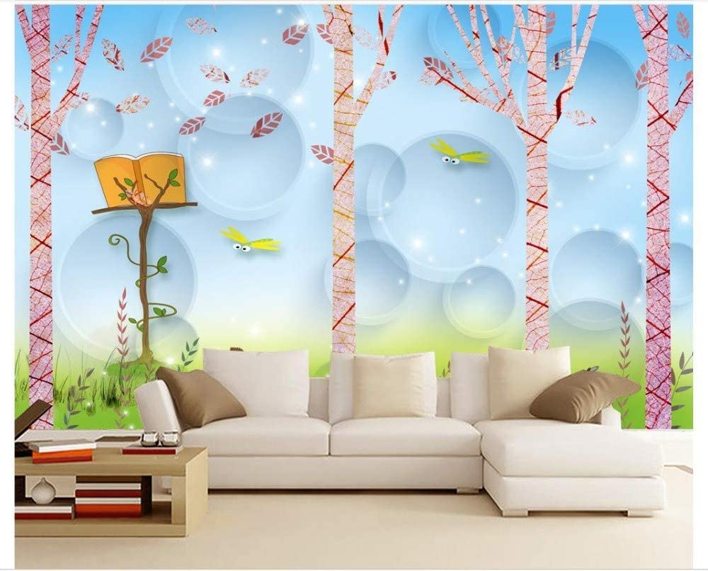 Wall Decoration Photo Wallpaper 3d Wallpaper For Walls 3d Beautiful Child Room Simple Tree Background Wall Painting Wall Paper Home Decor 200cmx140cm Amazon Com
