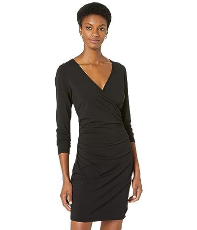 bobi Los Angeles Draped Modal Jersey Shirred Cross Front Dress