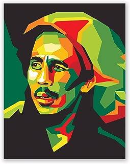 Bob Marley Poster - Pop Art Inspired Art - Bedroom Wall Poster - Living Room Decor - Gift for Men Women (11x14)