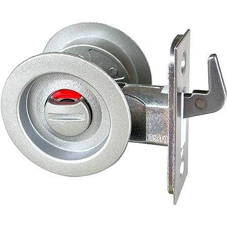 日中製作所 GIA チューブラ鎌錠 表示錠 表示錠 BS51mm 扉厚27-36mm シルバー 121-W-SL