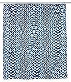 WENKO Duschvorhang Lorca - Textil , waschbar, wasserabweisend, mit 12 Duschvorhangringen, Polyester, 180 x 200 cm, Mehrfarbig