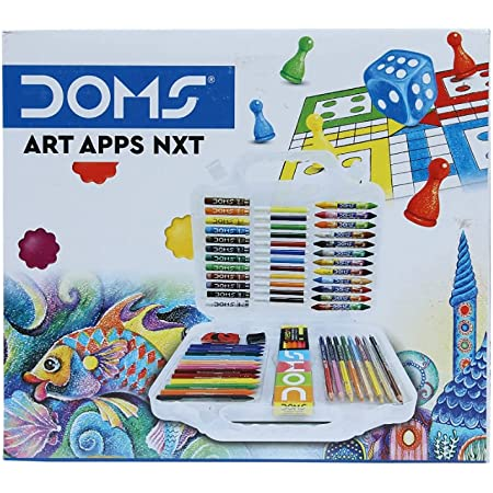 DOMS Gifting Range for Kids Art Apps NXT Kit with Plastic Carry Case, Multicolour (DM7483)
