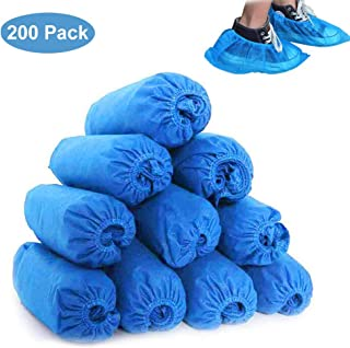Shoe Covers Disposable, Boot Covers 200 Pack (100 Pairs) Non-Slip, Durable, Protect Your Home, Floors and Shoes, One Size Fits All Up to XL