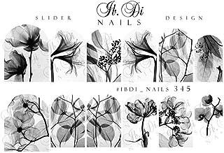 IBDI Wispy flower decals/sliders for manicure or pedicure, Decal for nails, Slider for manicures and pedicures, Nail art