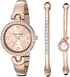 Women's Swarovski Crystal Accented Watch and Bangle Set, AK/3288