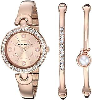 Anne Klein Women's Swarovski Crystal Accented Watch Bangle Set