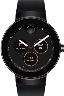 Movado Connect Digital Smart Module Black PVD Smartwatch, Black/Black Strap (Model 3660018