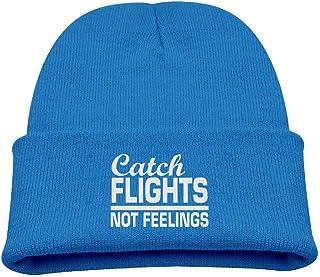 ADGoods Kids Children Catch Flights Not Feelings Beanie Hat Knitted Beanie Knit Beanie For Boys Girls Gorra de béisbol par...