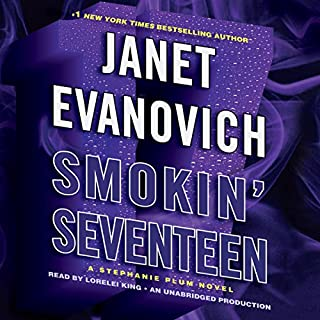 Smokin' Seventeen     A Stephanie Plum Novel              By:                                                                                                                                 Janet Evanovich                               Narrated by:                                                                                                                                 Lorelei King                      Length: 6 hrs and 21 mins     3,099 ratings     Overall 4.3
