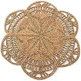 Handmade Rattan Rug | Natural Round 4 ft Indoor | Area Rug 4', Natural Fiber Rugs, Round Jute Rug, Straw Rug, Round Boho Rug, Woven Rug, Round Rugs | Including Circular and Rectangular Shape