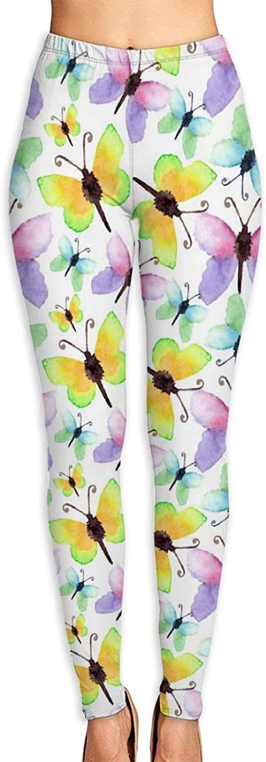 Watercolor Butterfly Pattern outlet Workout Lightweight Soldering Stretchy Sport