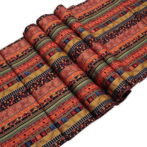 Woodtree Syndecho algodón Corredor de la Tabla de recepción de la Boda decoración de Banquetes, 32 * 180 cm, Altura: 33cm * 180cm
