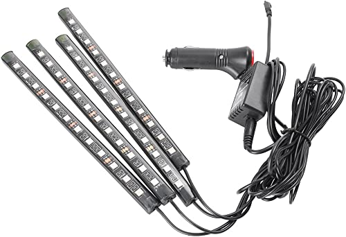 wholesale Mallofusa outlet sale 4x 12 LED RGB sale Music Car Interior Atmosphere Lights Bar Floor Underdash Decorative Strip Lights for All Vehicles sale