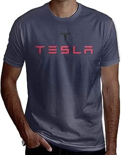 Syins Man Design Sweaty Tesla Motors Logo Short Sleeve Humor T Shirts Deep Heather