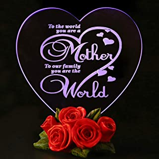 Mothers Day Gifts Birthday Presents for Mom Color Changing LED Cake Toppers