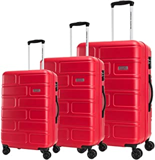 American Tourister Luggage Trolley Bags 3 Pcs, Red, Unisex