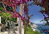 Fototapete AMALFI 368x254 traumhafte Steilküste Süditalien, Blick auf Mittelmeer