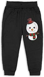 Easionerol Cartoon Snowman Smile Boys Long Sweatpants Jogger Trousers
