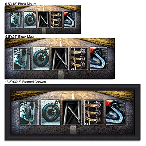 Personalized Motorcycle Name Wall Art