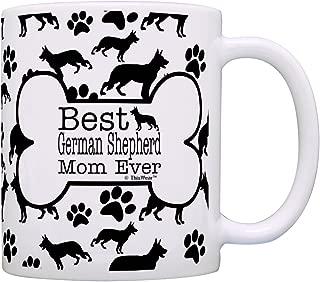 Dog Owner Gifts Best German Shepherd Mom Ever Paw Pattern Gift Coffee Mug Tea Cup Bone Pattern