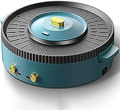 AJH Hot Pot électrique pour Barbecue Wok, Hot Pot électrique Domestique Multifonctionnel, Une Machine avec Plusieurs Fonct...
