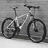 Bicicleta De Montaña para Adultos, Ruedas De 24/26 Pulgadas, Bicicleta de montaña Cross-Country de 21 velocidades,Frenos de Doble Disco con absorción de Impactos