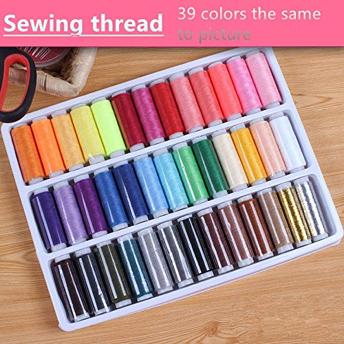 Check Out This Transparent : 39 Colors Sewing Thread Polyester Nylon Sewing line Home Essential Sewi...