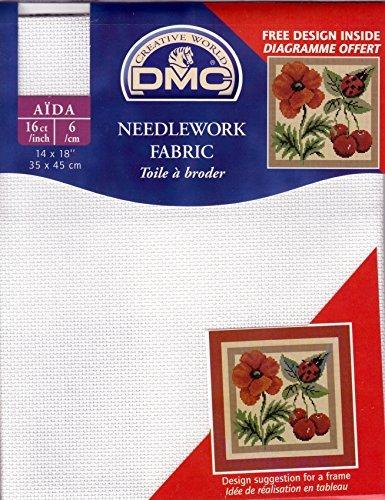 DMC Stoffabschnitt in 16 Count Aida = 6 Fäden/Zentimeter - Größe 35 x 45 cm (Inches 14