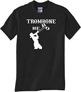 STUFF WITH ATTITUDE Trombone Hero Black TEE Shirt