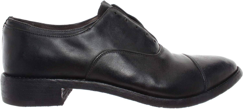 PREMIATA Herren Klassische Schuhe 1982 Rov Brass schwarz Leder Schwarz Made