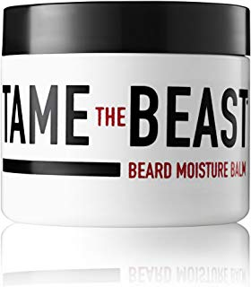 Beard Balm for Men - Moisturizing Leave-in Conditioner - Argan Oil, Sandalwood Oil, Vitamin E, Cocoa & Natural Oils of Jojoba, Eucalyptus, Coconut, Lavender, Cypress - by Tame the Beast