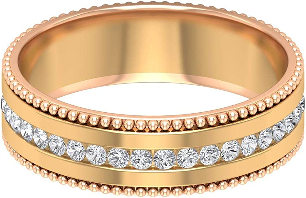 1 4 Two Tone Promise Max 87% OFF Ring for Qua Women Round AAA Diamonds with Attention brand