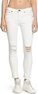 rag & bone Skinny White Capri Jeans with Holes 27