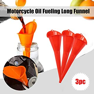 Tools Home Improvement,3pc Flexible Fueling Long Funnel Motorcycle Oil Additive Farmer Machine Funnel Long Neck Plastic Gasoline Tank Automatic Transmission Fuel Filler Funnel 28cm 3pc Red