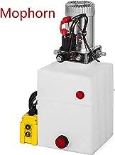 Mophorn 12 Volt DC Hydraulic Power Unit Single Acting Hydraulic Dump Trailer Pump Plastic Poly Reservoir(12VDC Single Action Powering Unit, SAE #6 Ports, 3200 PSI, 20 Quart Reservoir)