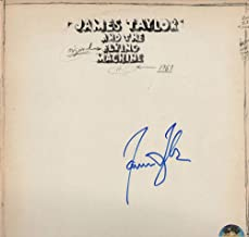 JAMES TAYLOR SIGNED AUTOGRAPH RECORD, ALBUM, VINYL - JAMES TAYLOR AND THE ORIGINAL FLYING MACHINE - LEGENDARY FOLK COUNTRY ROCK SINGER SONGWRITER - ROCK AND ROLL HALL OF FAME - CARLY SIMON - SWEET BABY JAMES, MUD SLIDE SLIM AND THE BLUE HORIZON, ONE MAN DOG, THAT'S WHY I'M HERE, IN THE POCKET, DAD LOVES HIS WORK, NEW MOON SHINE, HOURGLASS, OCTOBER ROAD, A CHRISTMAS ALBUM, COVERS, BEFORE THIS WORLD, AMERICAN STANDARD, NEVER DIE YOUNG, GORILLA, JT, WALKING MAN, FLAG